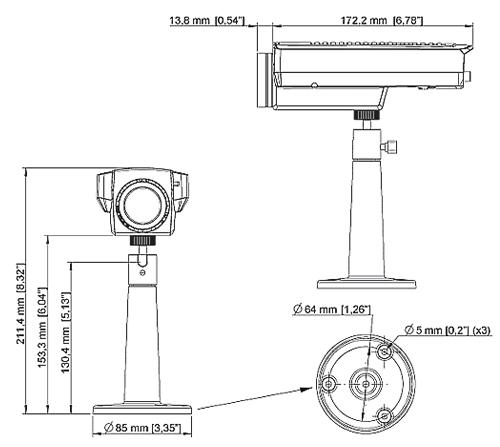 AXIS Q1755 Mpix - Kamery kompaktowe IP