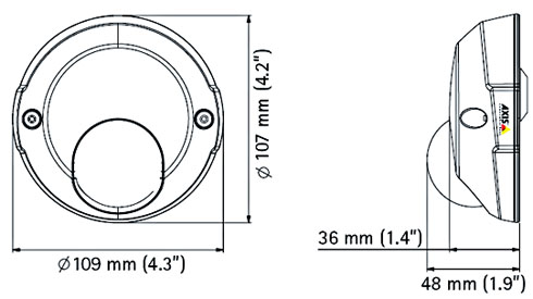 AXIS M3113-R RJ-45 / M12 - Kamery kopułkowe IP