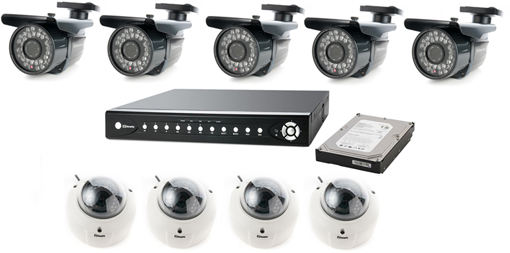 Zestaw kamering IP wewnętrzny i zewnętrzny - Kamering / Monitoring IP