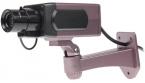 Fioletowa atrapa kamery z migającą diodą